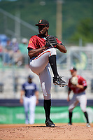 Altoona Curve starting pitcher Taylor Hearn (44) delivers a pitch during a game against the Binghamton Rumble Ponies on June 14, 2018 at NYSEG Stadium in Binghamton, New York.  Altoona defeated Binghamton 9-2.  (Mike Janes/Four Seam Images)