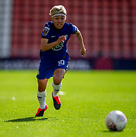 6th September 2020; Leigh Sports Village, Lancashire, England; Women's English Super League, Manchester United Women versus Chelsea Women; Ji So-yun of Chelsea Women chases down a loose ball