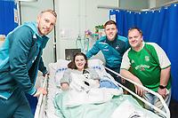 Thursday 21 December 2017<br /> Pictured: Mike van der Hoorn, Alfie Mawson of Swansea City<br /> Re: Swansea City Childrens Ward Visit, Morriston Hospital, Swansea, Wales, UK