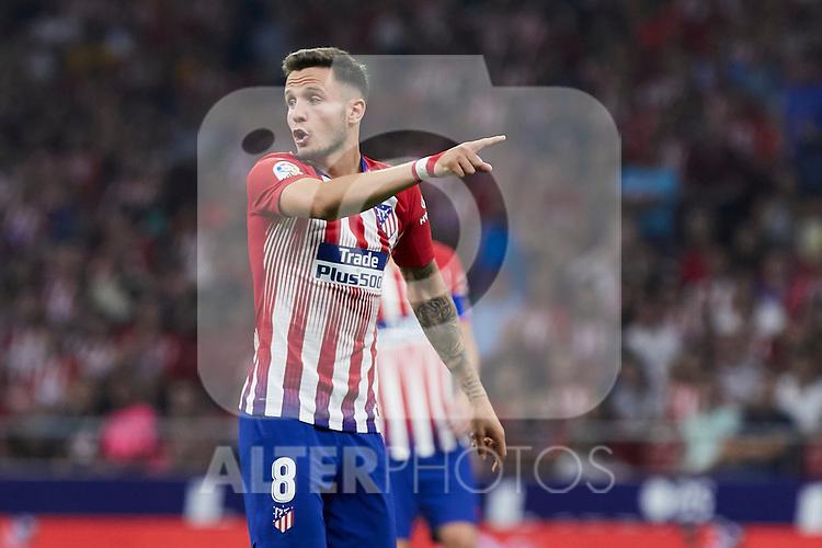 Atletico de Madrid's Saul Niguez during La Liga match. August 25, 2018. (ALTERPHOTOS/A. Perez Meca)