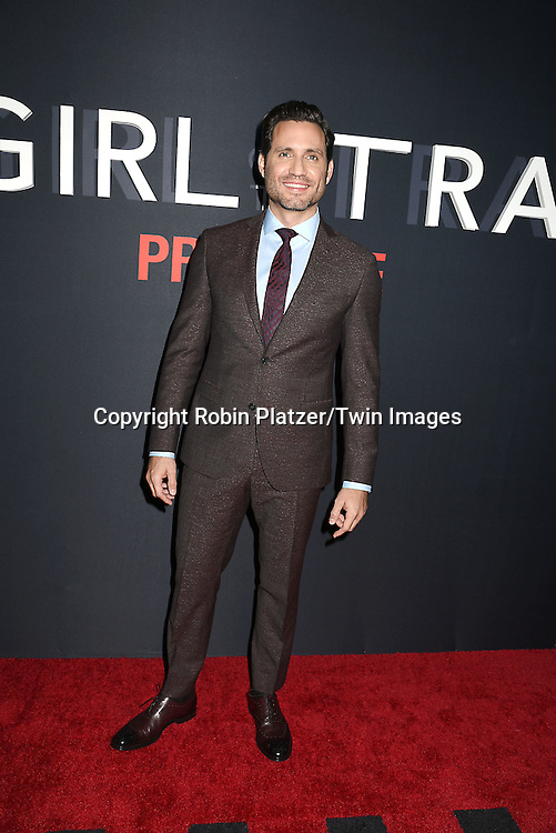 """actor Edgar Ramirez attends """"The Girl on the Train"""" New York Premiere on October 4, 2016 at Regal E-Walk Stadium 13 & RPX  in New York,New York,  USA.<br /> <br /> photo by Robin Platzer/Twin Images<br />  <br /> phone number 212-935-0770"""
