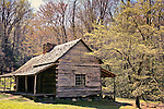 Historic cabin in Cades Cove, Smoky Mountains National Park, Tennessee