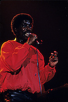 File Photo -  Billy Ocean<br />  in concert,  in the eighties. Exact date unkonwn.<br /> <br /> photo  : Harold Beaulieu<br />  -  Agence Quebec Presse