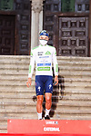 Andrea Bagioli (ITA) Deceuninck-Quick-Step wears the first young riders White Jersey after Stage 1 of La Vuelta d'Espana 2021, a 7.1km individual time trial around Burgos, Spain. 14th August 2021.    <br /> Picture: Luis Angel Gomez/Photogomezsport | Cyclefile<br /> <br /> All photos usage must carry mandatory copyright credit (© Cyclefile | Luis Angel Gomez/Photogomezsport)