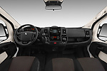 Stock photo of straight dashboard view of a 2018 Peugeot Boxer Active 4 Door Combi