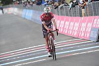 29th May 2021;  Giro D italia stage 20 Valle Spluga to Alpe Motta; Androni Giocattoli - Sidermec Sepulveda, Eduardo arrives in Alpe Motta