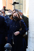 The Minister of Internal Affairs Luciana Lamorgese outside the Senate, where a trust vote is going on, due to the Government crisis.<br /> Rome(Italy), January 19th 2021<br /> Photo Samantha Zucchi/Insidefoto