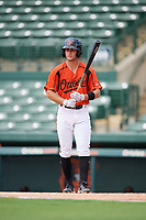 GCL Orioles center fielder Robbie Thorburn (31) at bat during a game against the GCL Rays on July 21, 2017 at Ed Smith Stadium in Sarasota, Florida.  GCL Orioles defeated the GCL Rays 9-0.  (Mike Janes/Four Seam Images)