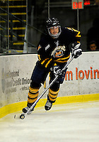 30 December 2007: Quinnipiac University Bobcats' forward Dan Travis, a Senior from Wilton, NH, in action against the University of Vermont Catamounts at Gutterson Fieldhouse in Burlington, Vermont. The Bobcats defeated the Catamounts 4-1 to win the Sheraton/TD Banknorth Catamount Cup Tournament...Mandatory Photo Credit: Ed Wolfstein Photo