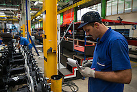 TURKEY Sakarya, Tirsan Treyler, production of truck trailer in factory in Adapazari / TUERKEI, Adapazari, Tirsan Trailer Fabrik, Herstellung von Trailern fuer LKW