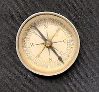 BNPS.co.uk (01202 558833)<br /> Pic: HAldridge/BNPS<br /> <br /> Also included is Smiths compass.<br /> <br /> A poignant cross made from drift wood from the Titanic by a seaman tasked with recovering the bodies from the disaster as surfaced 107 years later.<br /> <br /> The small religious symbol was delicately hand carved by Samuel Smith, a joiner on the cable-laying ship Minia which was tasked with searching for bodies.<br /> <br /> Mr Smith was so moved by the macabre experience that he honoured the victims by creating the wooden cross on a three-tiered plinth.<br /> <br /> He made it from a piece of oak wood he plucked from the ocean that has come from the sunken liner.<br /> <br /> The archive is estimated to sell for £35,000 at H Aldridge in Devizes.