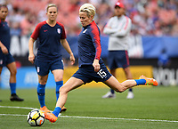 Cleveland, Ohio - Tuesday June 12, 2018: Megan Rapinoe during an international friendly match between the women's national teams of the United States (USA) and China PR (CHN) at FirstEnergy Stadium.