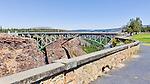 Crooked River High Bridge, Jefferson County, Oregon.  A 464 foot long, 330 feet high steel arch bridge as seen from Peter Skene Ogden Park.