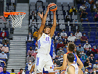 30th September 2021; Madrid, Spain:  Euroleague Basketball, Real Madrid versus Anadolu Efes Istanbul;  Walter Tavares of team Real Madrid collects the rebound during the Matchday 1 between Real Madrid and Anadolu Efes Istanbul