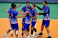 GRONINGEN - Volleybal, Lycurgus - SSS , Eredivisie, Martiniplaza, seizoen 2021-2022,  03-10-2021,  blijdschap bij Lycurgus