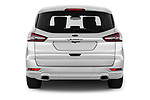 Straight rear view of a 2018 Ford S-Max Vignale Base 5 Door Mini Van stock images