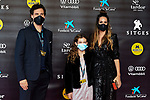 53 FESTIVAL INTERNACIONAL DE CINEMA FANTASTIC DE CATALUNYA. SITGES 2020.<br /> Red Carpet Gala Inauguracion.<br /> Christian Galvez, Udane Elosegui & Almudena Cid.