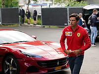 26th August 2021; Spa Francorchamps, Stavelot, Belgium: FIA F1 Grand Prix of Belgium, driver arrival day:  CarlSainz Jr. ESP 55, Scuderia Ferrari Mission Winnow
