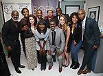 """BeBe Winans, Nita Whitaker, Kirsten Wyatt, Charles Randolph-Wright, Loren Lott, Lin-Manuel Miranda, Ron Gillyard, Maddie Shea Baldwin, Liisi LaFontaine and Donald Webber Jr. backstage after a Song preview performance of the Bebe Winans Broadway Bound Musical """"Born For This"""" at Feinstein's 54 Below on November 5, 2018 in New York City."""