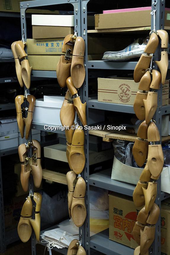 Shoe tree (last) at the atelier of Sarukawa Footwear College