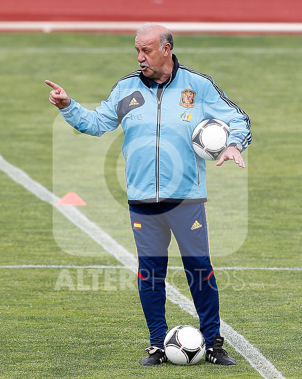 Spanish national football team coach Vicente Del Bosque during training session.June 1,2012.(ALTERPHOTOS/Acero)