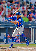 7 March 2019: New York Mets outfielder Keon Broxton in action during a Spring Training Game against the Washington Nationals at the Ballpark of the Palm Beaches in West Palm Beach, Florida. The Nationals defeated the visiting Mets 6-4 in Grapefruit League, pre-season play. Mandatory Credit: Ed Wolfstein Photo *** RAW (NEF) Image File Available ***
