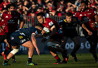 Sione Havili in action during the 2020 Super Rugby match between the Crusaders and Highlanders at Orangetheory Stadium in Christchurch, New Zealand on Saturday, 9 August 2020. Photo: Joe Johnson / lintottphoto.co.nz