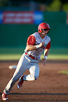 Williamsport Crosscutters first baseman Stoney O'Brien (33) runs the bases during a game against the Batavia Muckdogs on June 21, 2018 at Dwyer Stadium in Batavia, New York.  Batavia defeated Williamsport 6-5.  (Mike Janes/Four Seam Images)