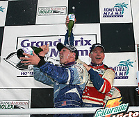 Andy Lally and Randy Pobst at the Grand Prix od Miami at Homestead-Miami Speedway on Saturday, March 5, 2005.(Grand American Road Racing Photo by Brian Cleary)