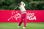 Yeun Jung Seo of South Korea tees off at the 17th hole during Round 1 of the World Ladies Championship 2016 on 10 March 2016 at Mission Hills Olazabal Golf Course in Dongguan, China. Photo by Victor Fraile / Power Sport Images