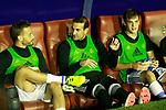 Real Sociedad's Sergio Canales, Tono Ramirez and Jon Bautista during La Liga match. September 21,2017. (ALTERPHOTOS/Acero)