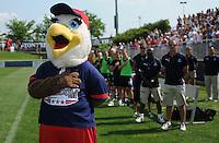 Washington Freedom mascot Glory.   Washington Freedom defeated FC. Gold Pride 3-1at the Maryland SoccerPlex, Sunday May 31, 2009.