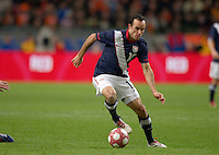 Landon Donovan carries the ball..The USA men fell to the Netherlands 2-1 at Amsterdam ArenA, Wednesday, March 3, 2010.