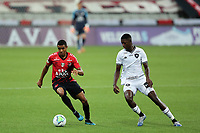 9th September 2020; Arena da Baixada, Curitiba, Brazil; Brazilian Serie A, Athletico Paranaense versus Botafogo; Erick of Athletico Paranaense and Matheus Babi of Botafogo