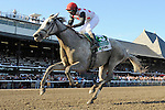 Zo Impressive (no. 5), ridden by Rajiv Maragh and trained by Thomas Albertrani, in the 96th running of the grade 1 Coaching Club American Oaks for three year old fillies on July 21, 2012 at Saratoga Race Track in Saratoga Springs, New York.  (Bob Mayberger/Eclipse Sportswire)
