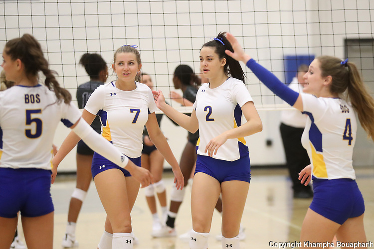 Boswell beats Richland 3-1 in high school volleyball in Fort Worth on Tuesday, August 13, 2019. (Photo by Khampha Bouaphanh)