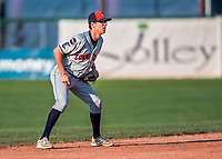 20 August 2017: Connecticut Tigers infielder Cole Peterson, a 13th round draft pick for the Detroit Tigers, in action against the Vermont Lake Monsters at Centennial Field in Burlington, Vermont. The Lake Monsters rallied to edge out the Tigers 6-5 in 13 innings of NY Penn League action.  Mandatory Credit: Ed Wolfstein Photo *** RAW (NEF) Image File Available ***