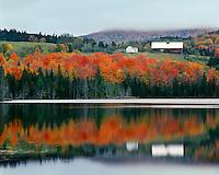Farm scene in the fall above Keiser Pond; Harvey, VT