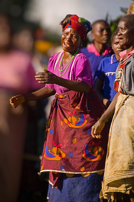 Singing to Gulewamkulu, Mpalale village, Malawi