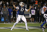 Nevada quarterback Cody Fajardo (17) competes against Boise State during the first half of an NCAA college football game in Reno, Nev, on Saturday, Oct. 4, 2014. (AP Photo/Cathleen Allison)