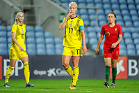 20200310 Faro , Portugal : Swedish Caroline Seger (17) pictured during the female football game between the national teams of Portugal and Sweden on the third matchday of the Algarve Cup 2020 , a prestigious friendly womensoccer tournament in Portugal , on Tuesday 10 th March 2020 in Faro , Portugal . PHOTO SPORTPIX.BE | STIJN AUDOOREN