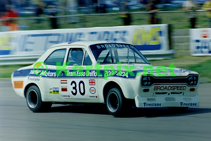 Andy Rouse in the saloon car race supporting the 1973 John Player British Grand Prix