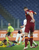 Football, Serie A: AS Roma - Cagliari calcio, Olympic stadium, Rome, December 23, 2020. <br /> Roma's captain Edin Dzeko scores during the Italian Serie A football match between Roma and Cagliari at Rome's Olympic stadium, on December 23, 2020.  <br /> UPDATE IMAGES PRESS/Isabella Bonotto