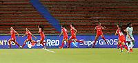 MEDELLÍN- COLOMBIA, 21-07-2021: Atlético Nacional y América de Cali en partido por la fecha 3 como parte de la Liga Femenina BetPlay DIMAYOR 2020 jugado en el estadio Atanasio Girardot de Medellín/ Atletico Nacional and America de Cali in match for the date 3 as part of Women's BetPlay DIMAYOR 2021 League, played at Atanasio Girardot stadium of Medellin City. Photo: VizzorImage / Donaldo Zuluaga / Contribuidor