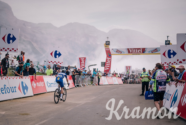 Ariel Maximiliano Richeze (ARG/Quick-Step Floors) is one of the very last riders over the last climb of the 2018 Tour: the Col d'Aubisque (HC/1709m/16.6km@4.9%)<br /> <br /> Stage 19: Lourdes > Laruns (200km)<br /> <br /> 105th Tour de France 2018<br /> ©kramon