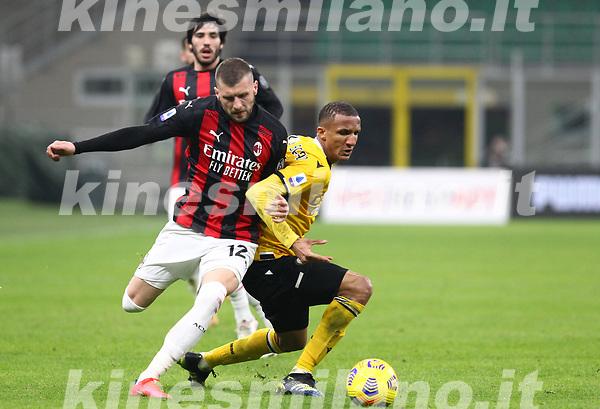 Milano 03-03-2021<br /> Stadio Giuseppe Meazza<br /> Serie A  Tim 2020/21<br /> Milan - Udinese<br /> nella foto:  Ante Rebic                                                        <br /> Antonio Saia