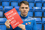 St Johnstone's Jason Kerr pictured promoting Show Racism The Red Card<br />Picture by Graeme Hart.<br />Copyright Perthshire Picture Agency<br />Tel: 01738 623350  Mobile: 07990 594431