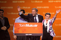 New Democratic Party leader Tom Mulcair defeat speech in Montreal, on <br /> election night, September 19, 2015<br /> <br /> PHOTO : Philippe Manh Nguyen