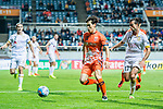 Jeju United Midfielder Lee Changmin (C) in action during the AFC Champions League 2017 Group Stage - Group H match between Jeju United FC (KOR) vs Adelaide United (AUS) at the Jeju World Cup Stadium on 11 April 2017 in Jeju, South Korea. Photo by Marcio Rodrigo Machado / Power Sport Images