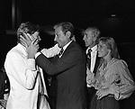 HELMUT BERGER, GUALTIERO JACOPETTI  CON  ALESSANDRO  DADO  RUSPOLI E DEBRA BERGER<br /> JACKIE O' ROMA 1981